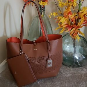 Ralph Lauren Interchangeable Tote Bag W/Accessorie